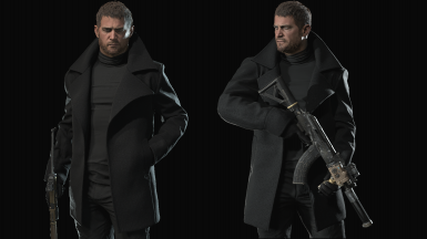 Coat Chris Through All Game (Include 3rd Person Addon)