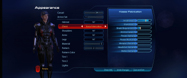 ME3LE Coalesced Tweaks and Armor Appearances Combined