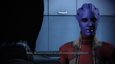 Aethyta Recognizes Shepard's Relationship Status with Liara