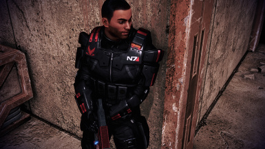 N7 with Red Spectre Logo, No Helmet Mod