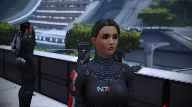 ME1 Version, i'm not currently playing ME1 so this head morph had some vector edits to the makeup, but it's the same texture across all three games!