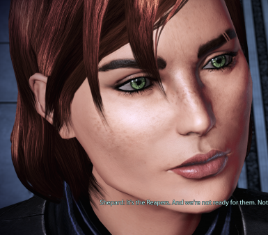 Here's how the face texture looks on default femshep.