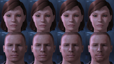 MELE2 brows and facial hair transparency fix
