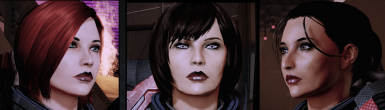 Mass Effect 1 and 2 Female Multi-Race Head Morphs