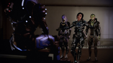 Recruiting Garrus with Thane and Tali