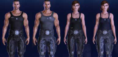 Tank Top Casuals for Shepard (LE2 and LE3)