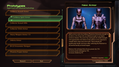 New Research Cerberus themed armors are found on the Prototypes section of the techlab.