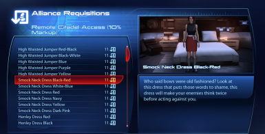 Outfits for FemShep LE3