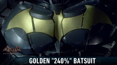 Golden 240 Batsuit from Arkham Knight In Batman Arkham City