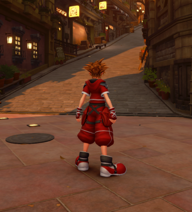 Red Clothes for KH2 Sora