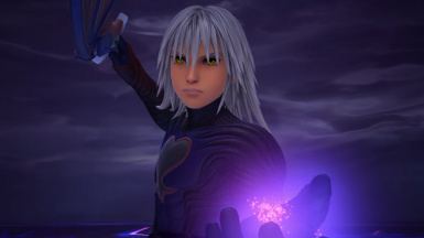Data Dark Riku but every voice line is replaced with the word 'come'