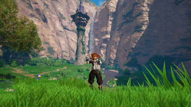 KH3 Sora Black and White Outfit
