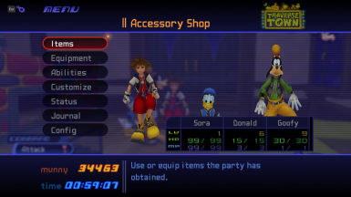 KH PC Stat and Inventory Modifier