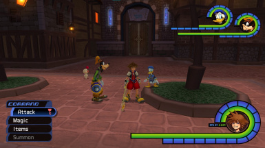 KH2 Command Controls (L2 and Right Stick to navigate commands)