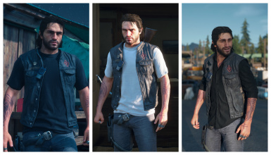 Several Biker Outfits without hat or cap