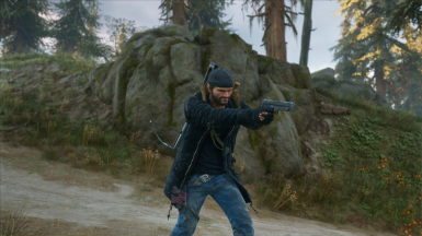 Deacon Black Jacket and Knit Gloves