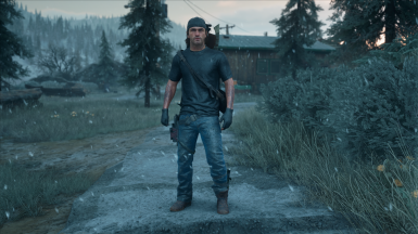Deacon Black Shirt and Knit Gloves