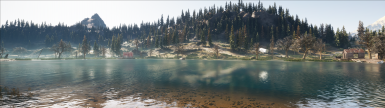 Improved reflections and refractions on the water as well as further drawn shadows and ambient occlusion