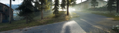 Improved shadows and volumetric light, fog and translucency, look at each strand of grass now casting a separate shadow
