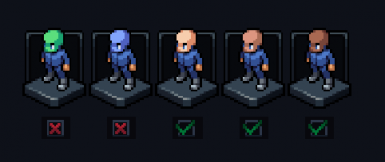 No Green and Blue Skin Colonists