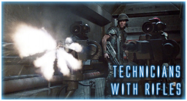 Technicians with Rifles