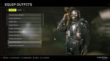All Outfits for a Specific Class