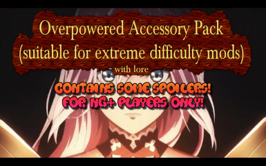 NGPlus Accessory Pack with lore