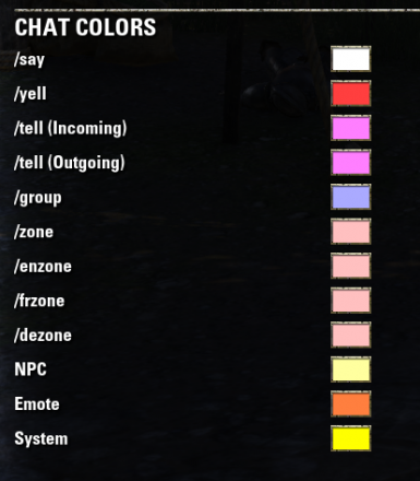 World of Warcraft Chat Colors
