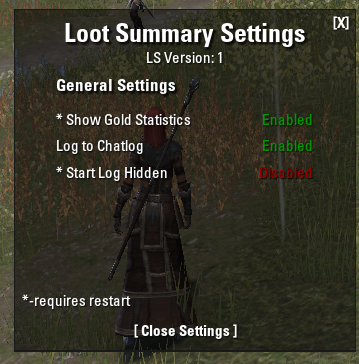 Loot Summary and Statistics