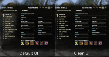 Clean UI at The Elder Scrolls Online Nexus - UI Addons, Mods