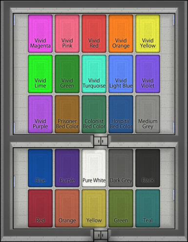Area Rugs Colors Labeled