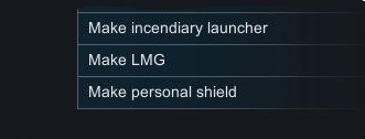 Craftable Personal Shields