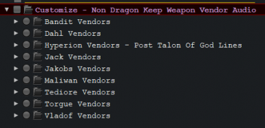 More Weapon Vendor Voice Lines
