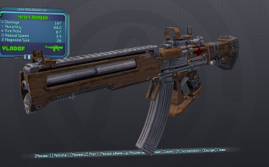 Wooden Reskin and Reticle Pack for Vladof Assault Rifles and various other weapons