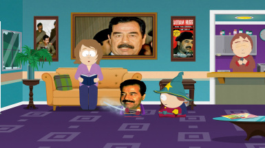 Saddam Hussein instead of The Hoff