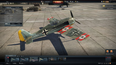 Fw 190 A-1 costum nazi aircraft named kriegsmaschine