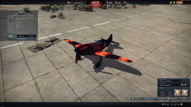 LaGG-3-8 black with red strips skin