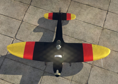 War Thunder- German Flag Colours - Plane - HE 112 V-5 - Adler PRD made User Skin V1.2