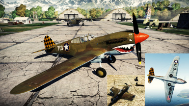P-40E Checker-tail Tigershark