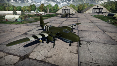 A-20G with Normandy invasion stripes