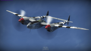 XP-38G or P-38G Lightning with Invasion Stripes