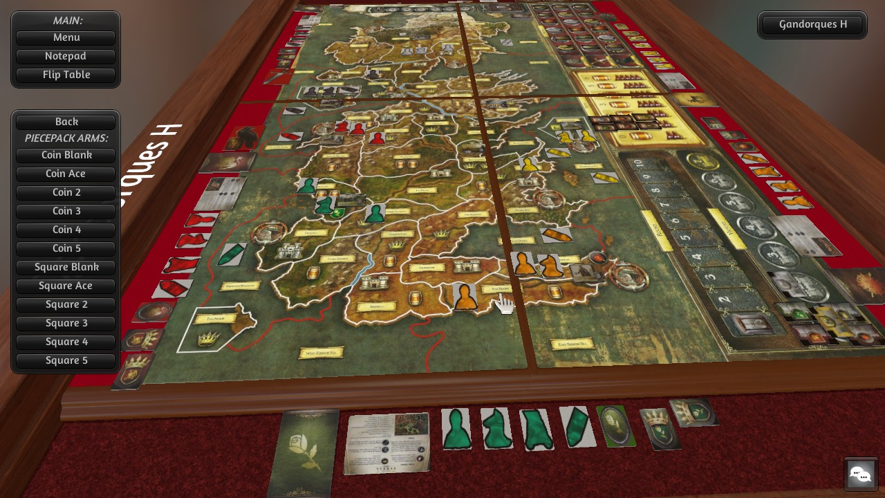 a game of thrones - the board game at tabletop simulator nexus