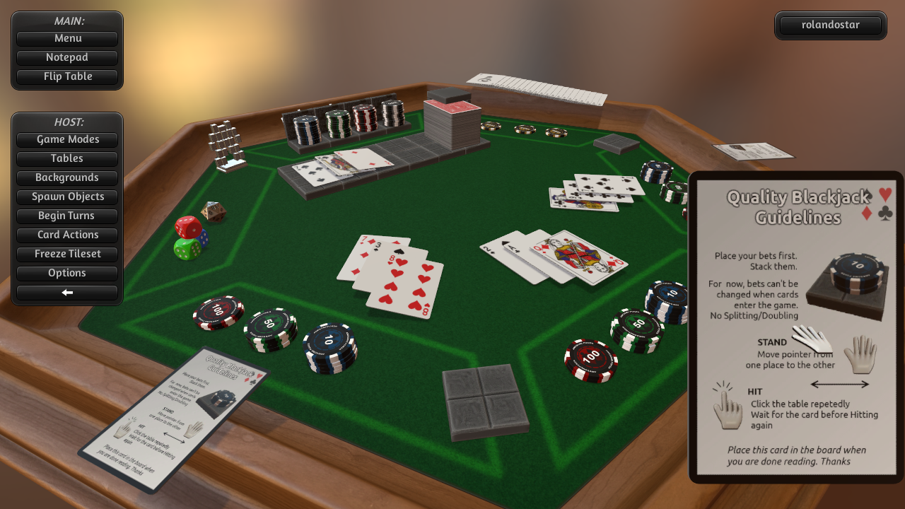 Blackjack table top view - Quality Blackjack V1_1 Custom Deck For Guidelines With Deck Auto Load At Tabletop Simulator Nexus Mods And Community
