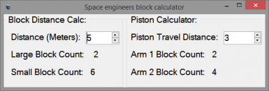 SE Block and Piston Calculator