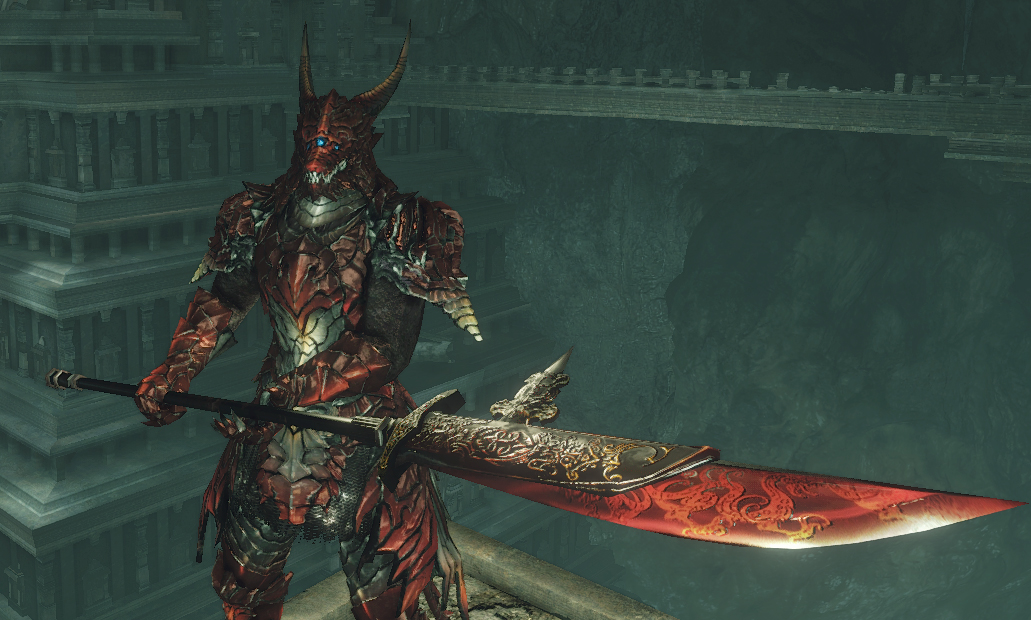 Wep003 Black Dragon Halberd At Dark Souls 2 Nexus Mods And Community Each piece can be found in different act. black dragon halberd at dark souls