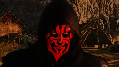 Darth Maul Face Tattoo