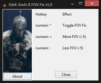 Dark Souls II FOV Fix (for original game and Scholar of the First Sin)
