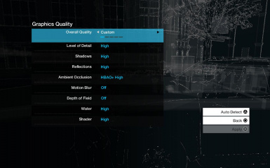 Game Menu buttons