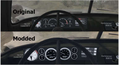 Detailed Dash Gauges and Compass Mod
