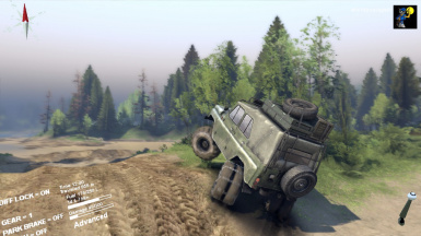 UAZ all wheel steering
